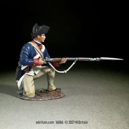 WB16086 Continental Line/1st American Rgt Kneeling , 1779 -87